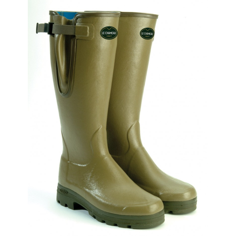 footwear san francisco exquisite style Le Chameau Vierzonord Neoprene Lined Wellington Boots Green Mens 41CM Calf  - Braces of Bristol