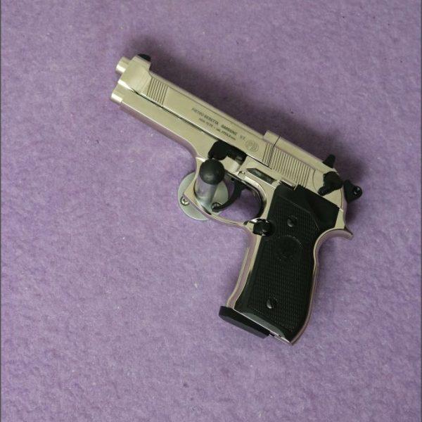 Umarex Beretta M92FS Chrome with black grips .177