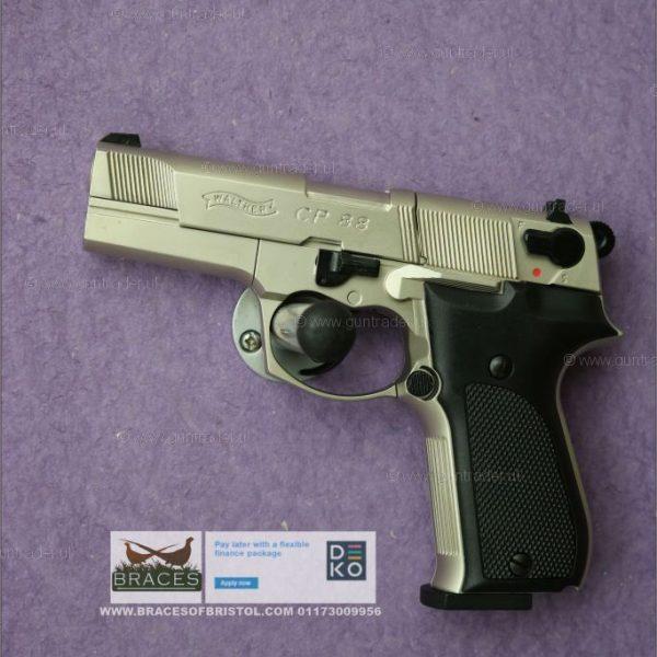 Umarex Walther CP88 Nickel – Black handles .177